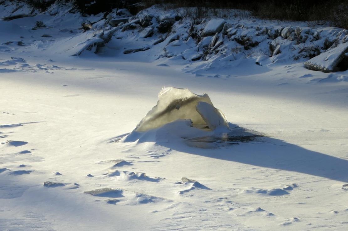 river ice in adirondacks