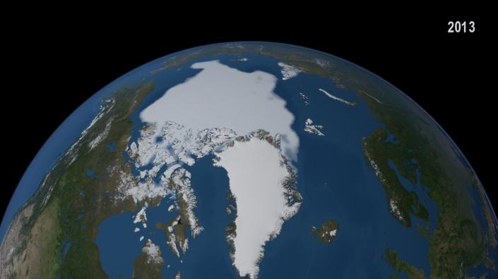 11. August 2013 - Arctic Sea Ice minimum, NASA Goddard Space Flight Center